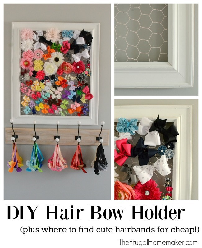 DIY Hairbow Holder  DIY Hair Bow Holder plus where to find cute hairbands for