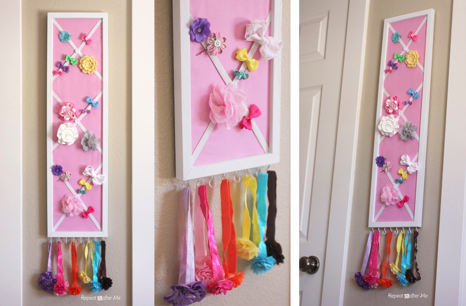 DIY Hairbow Holder  Baby Girl Nursery DIY decorating ideas Repeat Crafter Me