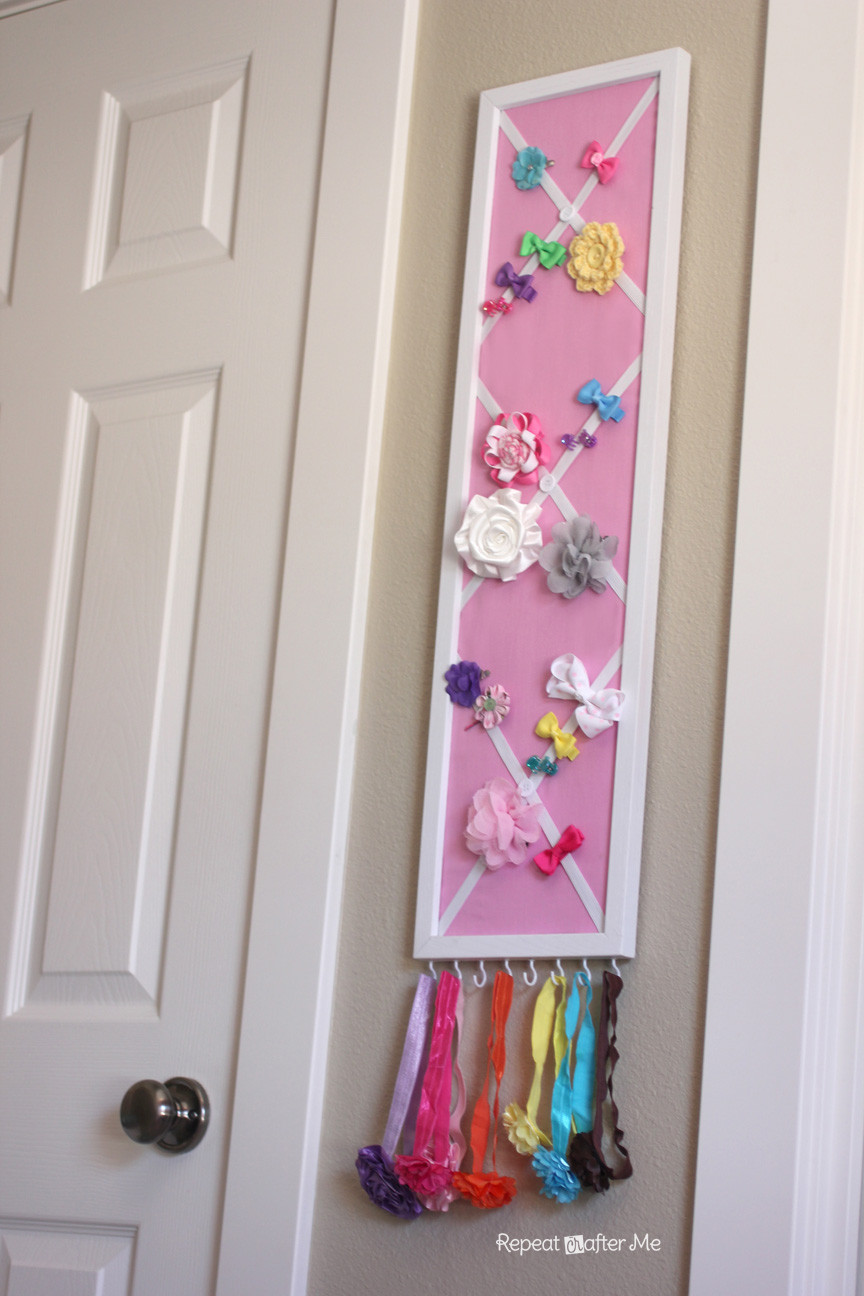 DIY Hairbow Holder  DIY Hair Bow Holder or Message Board Repeat Crafter Me