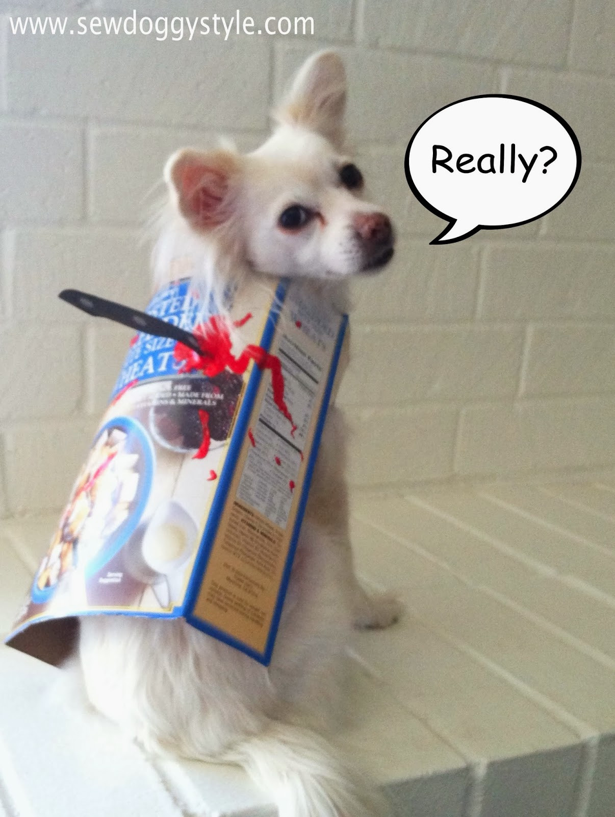 DIY Halloween Costume For Dogs  Sew DoggyStyle Last Minute DIY Halloween Costume Cereal