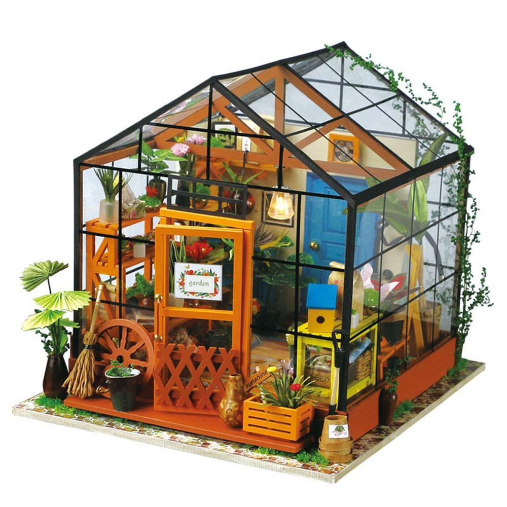 DIY Home Kit  Robotime DIY Miniature Dollhouse Kit DG104 Cathy s Flower