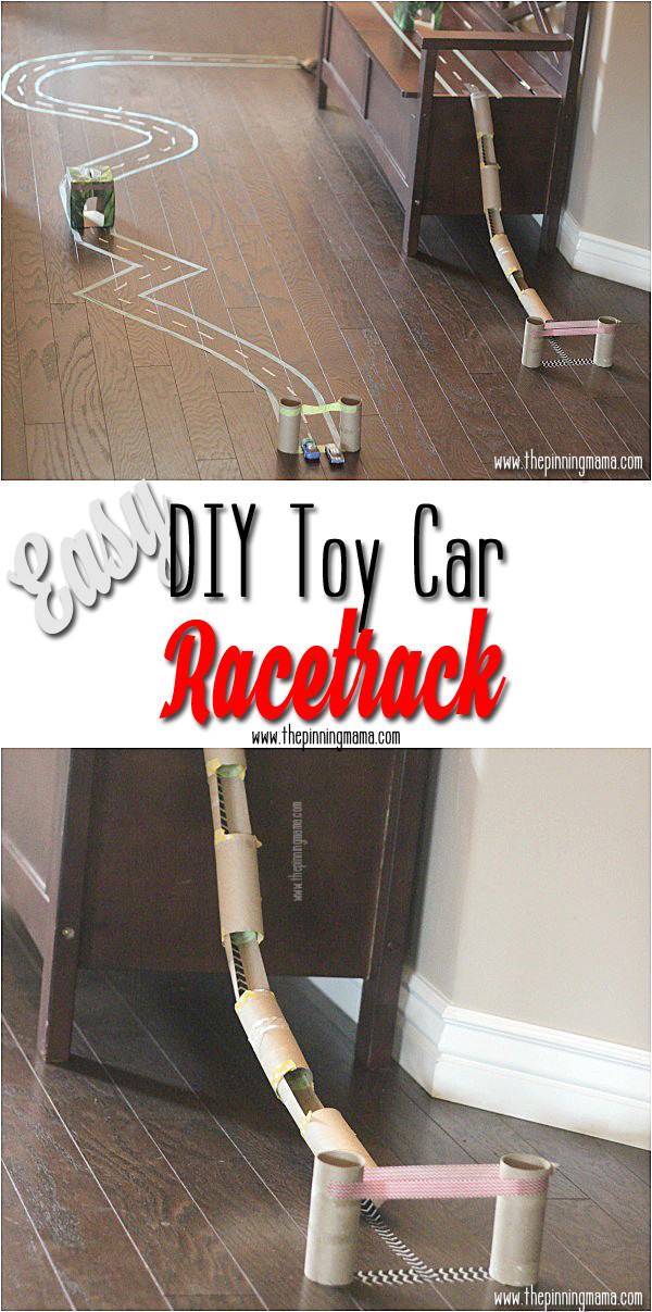 DIY Hot Wheels Track  17 Creative Uses for Toilet Paper Rolls Simply Bubbly
