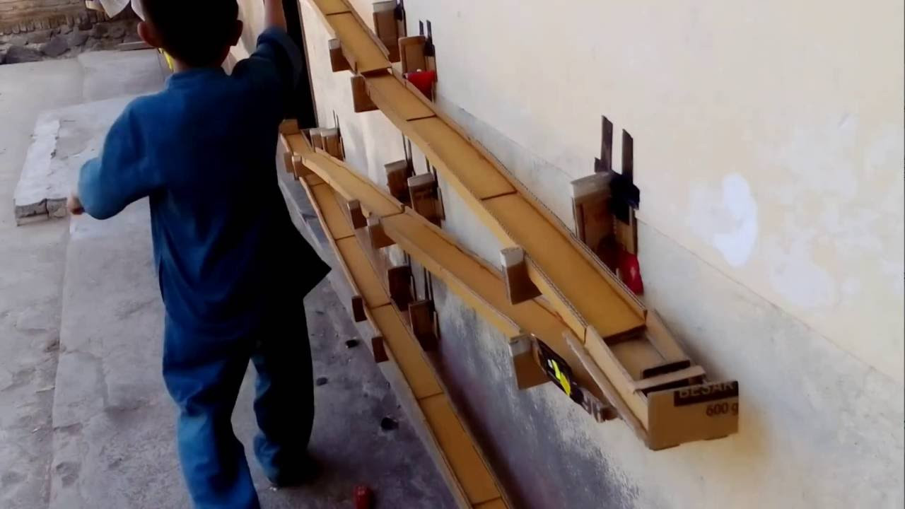 DIY Hot Wheels Track  Track Hot Wheels Cardboard bahan kardus Homemade