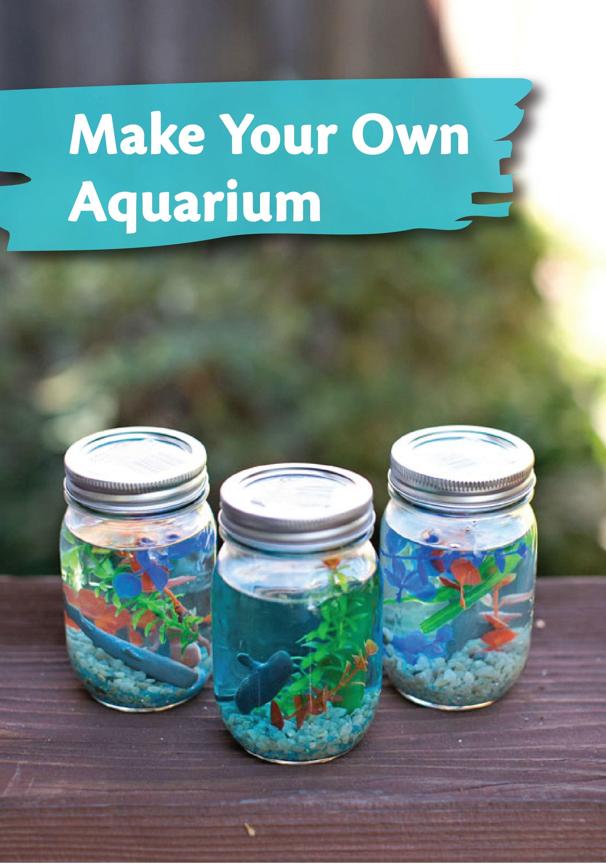 DIY Ideas For Kids  MAKE A MASON JAR AQUARIUM Everyday Kid Crafts
