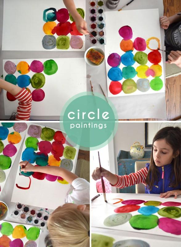 DIY Kids Project  Funny DIY For Kids Watercolor Circle Paintings