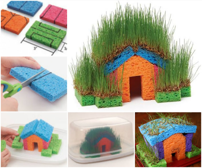 DIY Kids Project  Educational DIY Mini Grass Houses for Kids