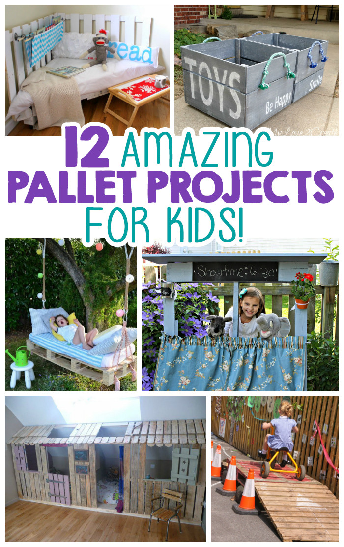 DIY Kids Project  12 Amazing Pallet Projects For Kids