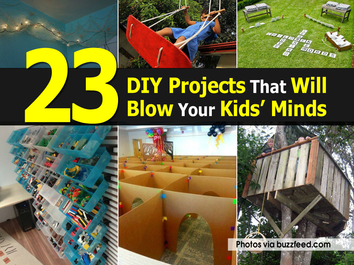 DIY Kids Project  23 DIY Projects That Will Blow Your Kids' Minds