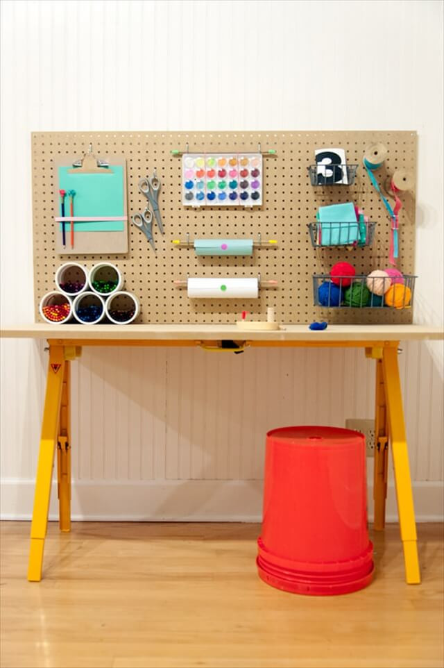 DIY Kids Project  4 Easy Steps for Setting up Crafting Area for Kids
