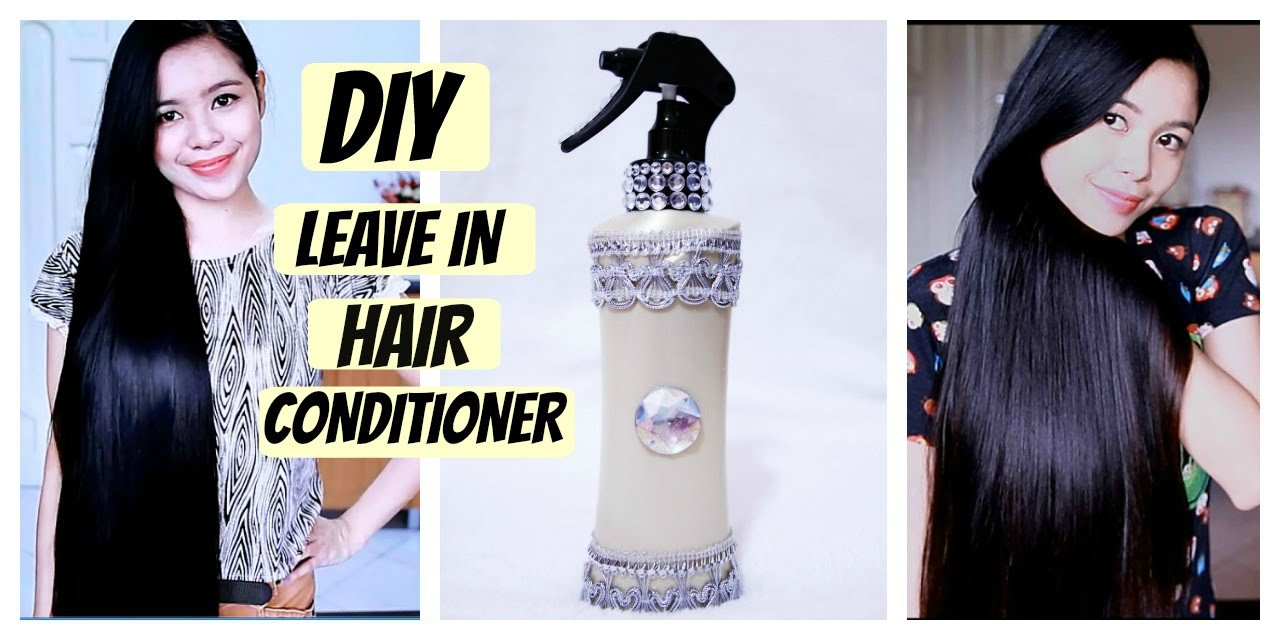 DIY Leave In Conditioner For Damaged Hair  DIY Leave In Hair Conditioner for Dry Damaged & Tangled