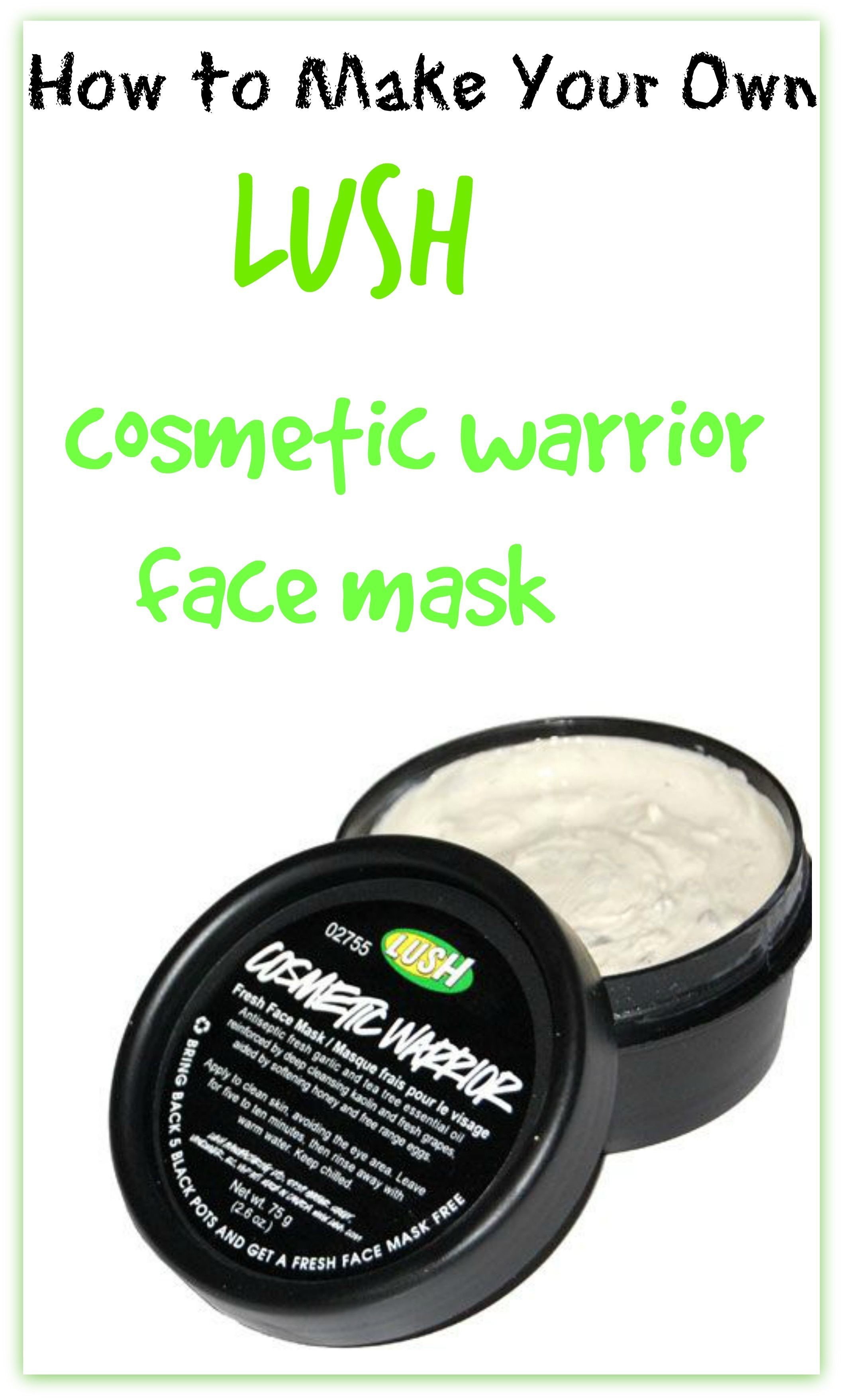 DIY Lush Face Mask  How to Make Your Own Lush Cosmetic Warrior Face Mask