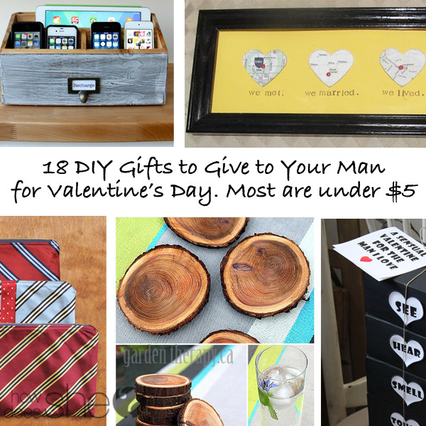 DIY Man Gifts  DIY Valentine s Gifts for Husband