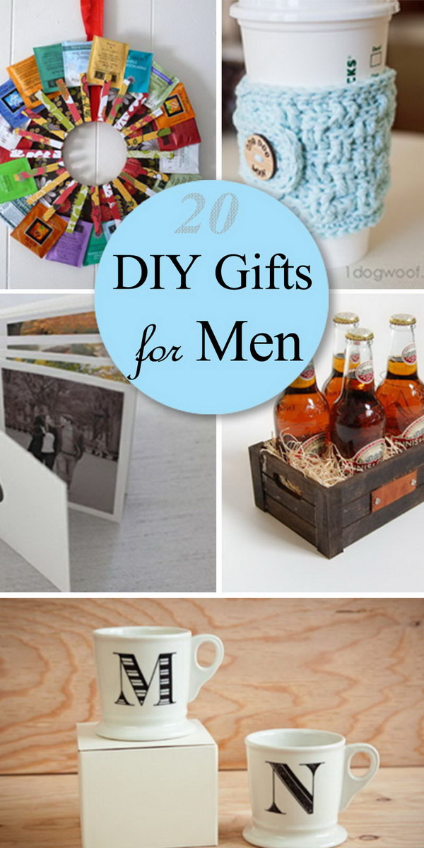 DIY Man Gifts  20 DIY Gifts for Men Hative