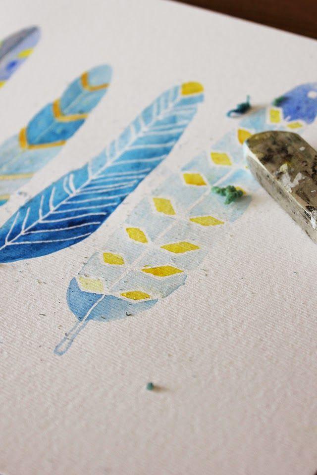 DIY Masking Fluid  Painting with Masking Fluid 2015 Pinterest