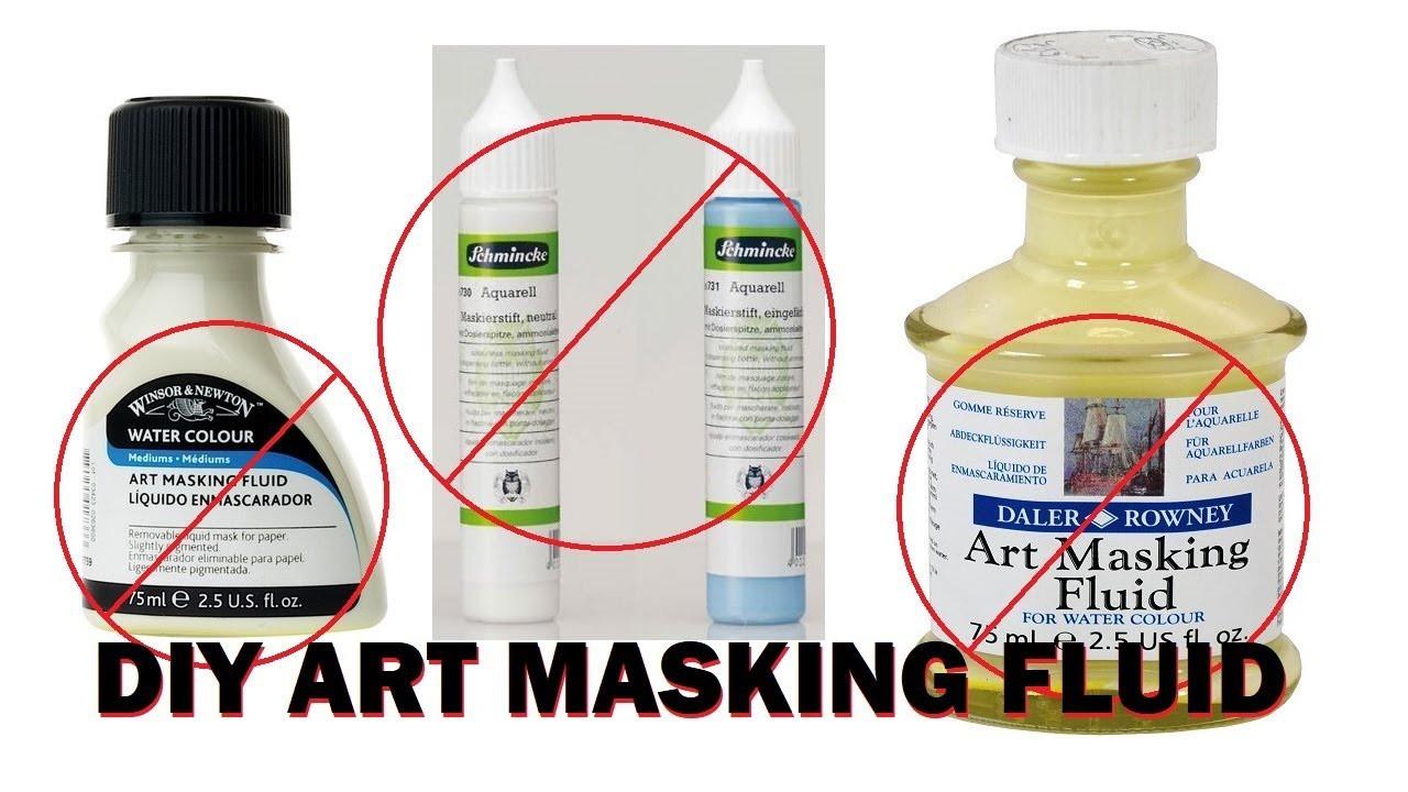 DIY Masking Fluid  ARTHACK DIY Art Masking Fluid Make your own Resist for