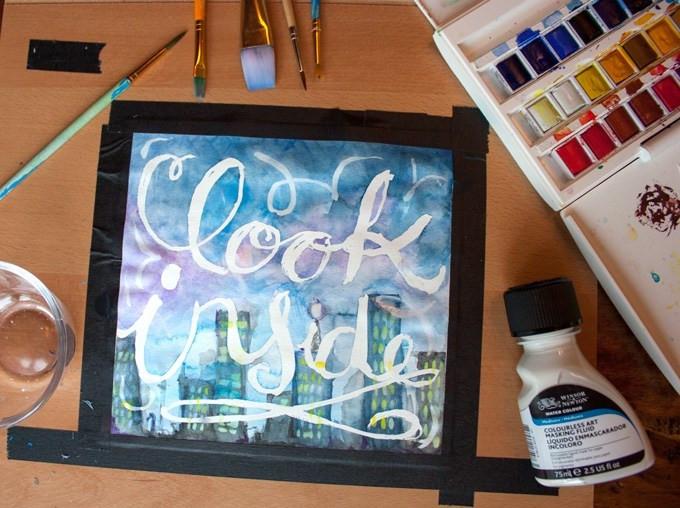 DIY Masking Fluid  Water Color Masking Fluid Tips – In Crafts
