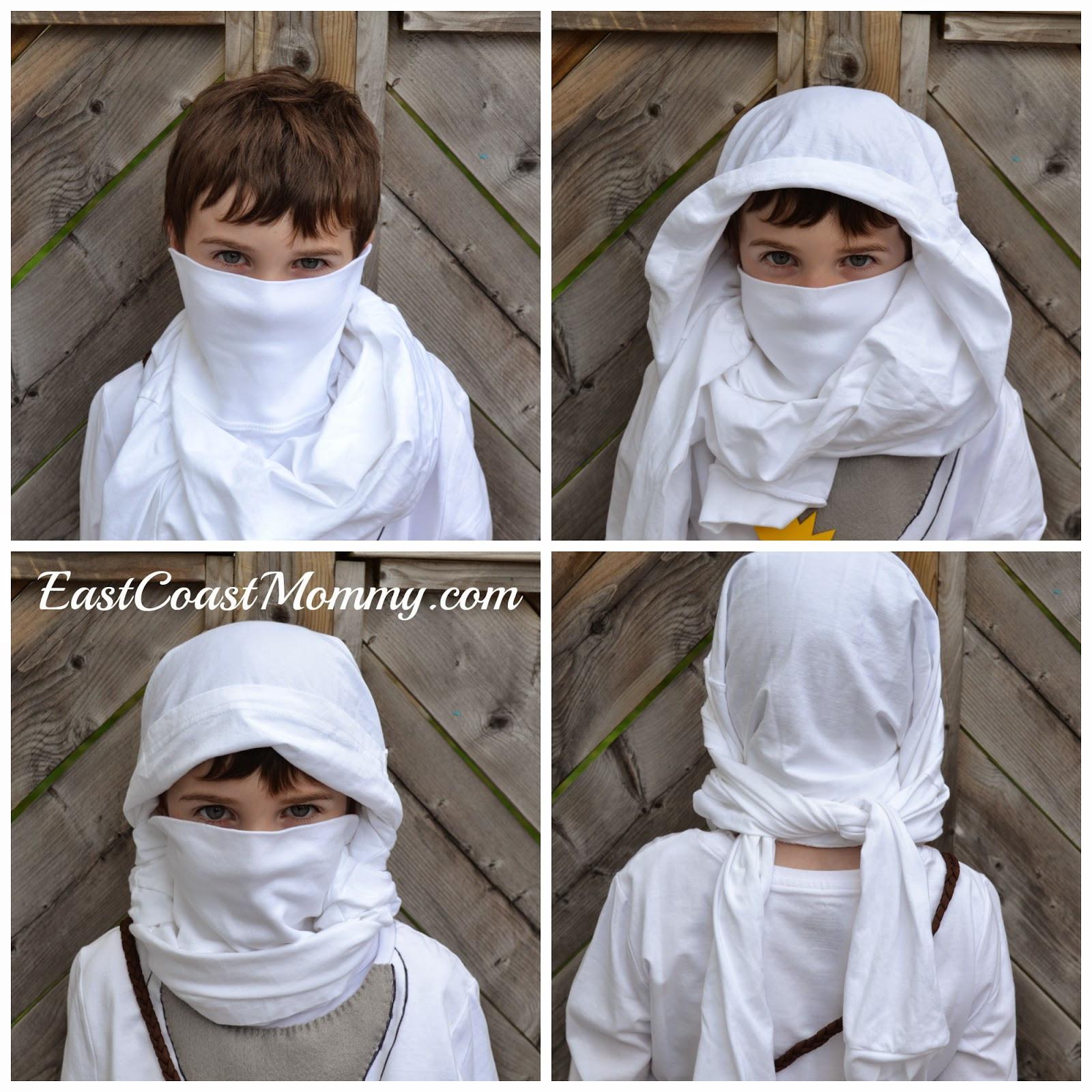 DIY Ninja Mask  East Coast Mommy Easy Black Ninja Costume no sewing