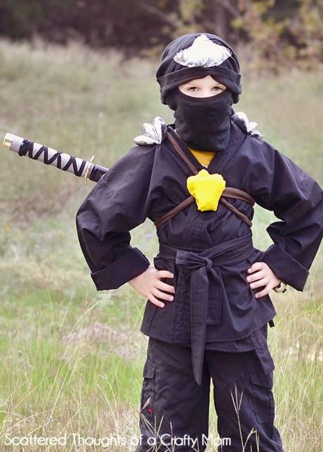 DIY Ninja Mask  Last Minute DIY Halloween Costumes Made by you Monday