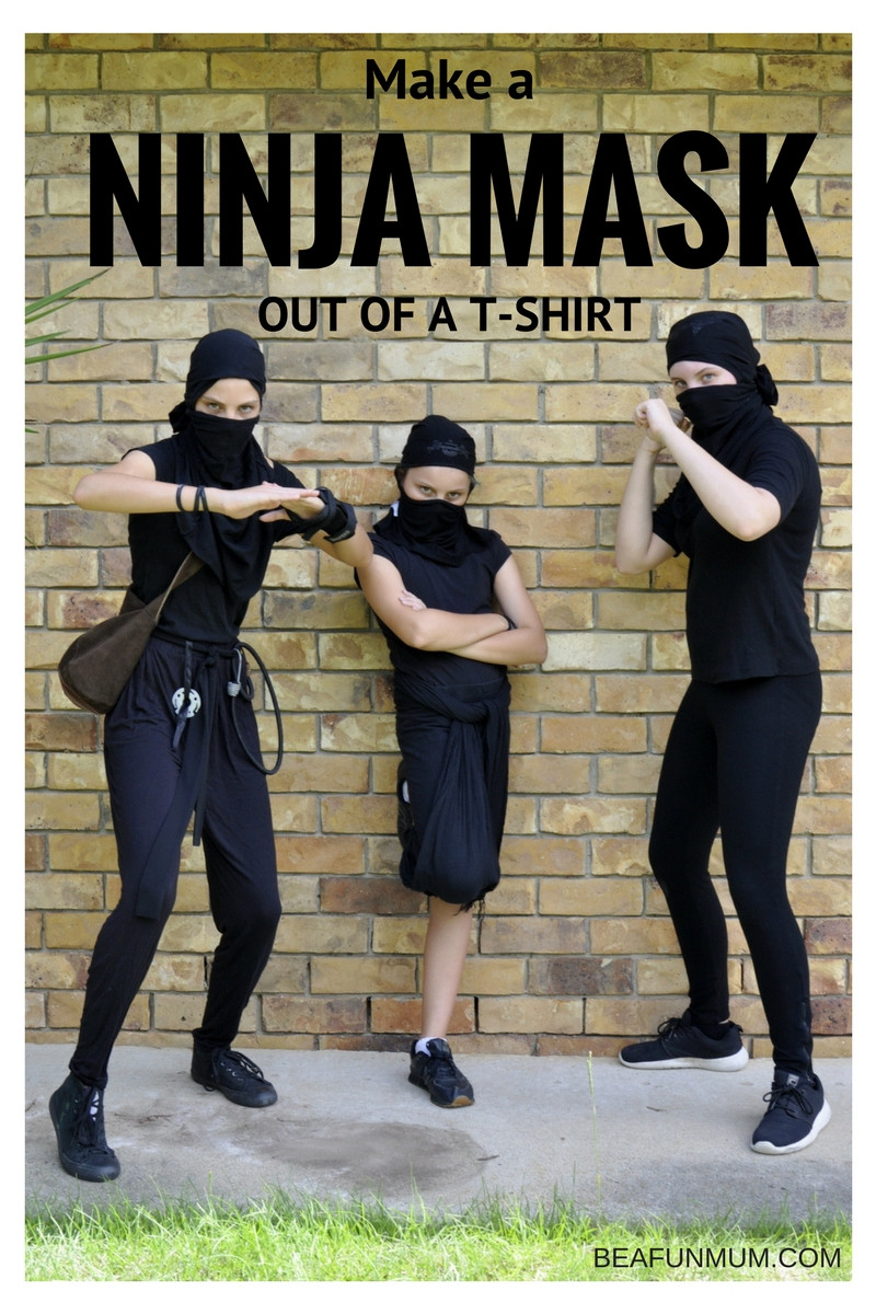 DIY Ninja Mask  Turn a T Shirt Into a Ninja Mask