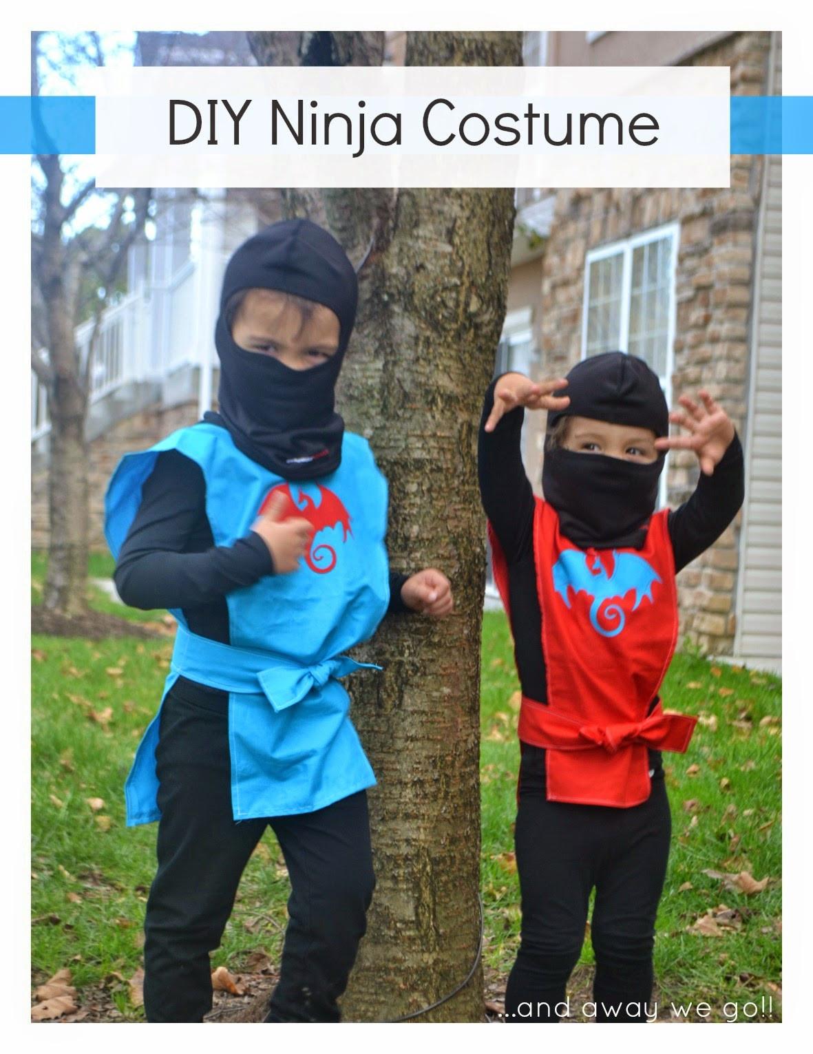 DIY Ninja Mask  and away we go DIY Ninja Costumes