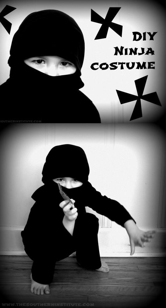 DIY Ninja Mask  DIY No Sew Ninja Costume Tutorial Andrea s Notebook
