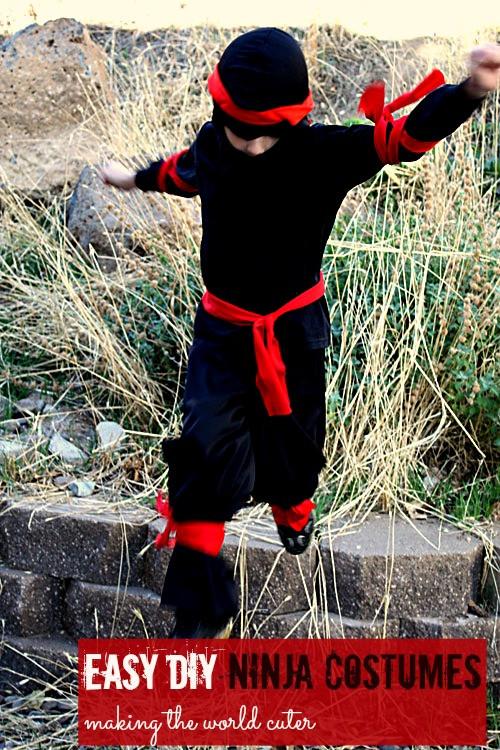 DIY Ninja Mask  25 Creative DIY Costumes for Boys