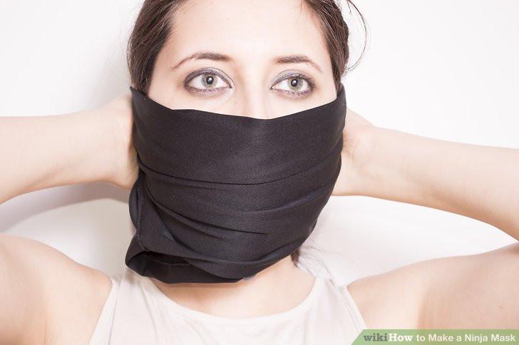 DIY Ninja Mask  3 Ways to Make a Ninja Mask wikiHow