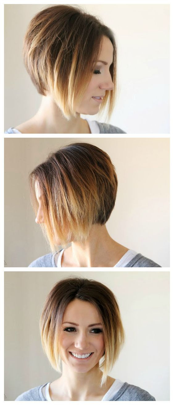 DIY Ombre Short Hair  The Great Hair Post short hair pixie cuts ombre short