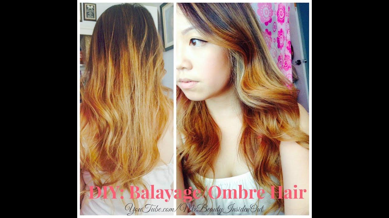 DIY Ombre Short Hair  DIY Balayage Ombre Hair