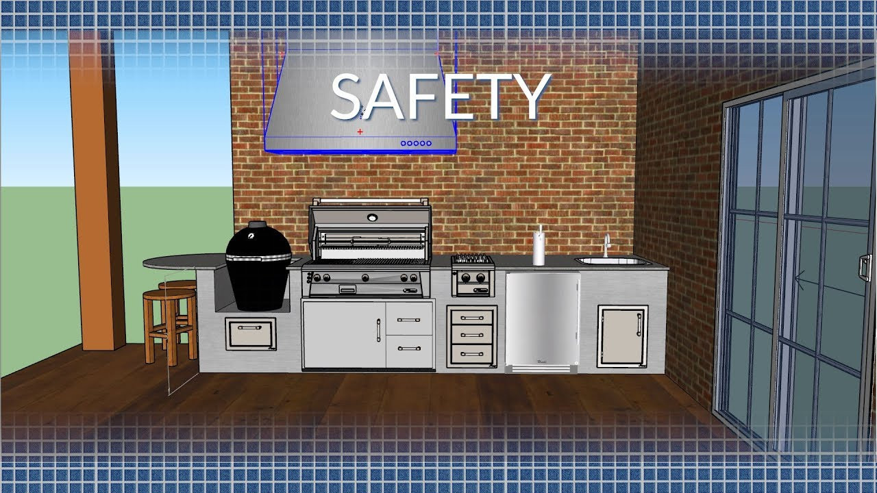 DIY Outdoor Grill Vent Hood  Outdoor Kitchen Safety & Ventilation