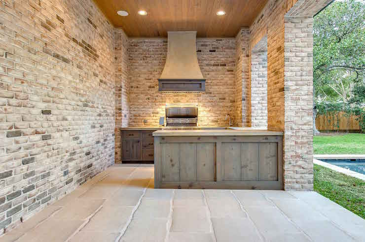 DIY Outdoor Grill Vent Hood  Outdoor Kitchen with Hood Transitional Deck patio
