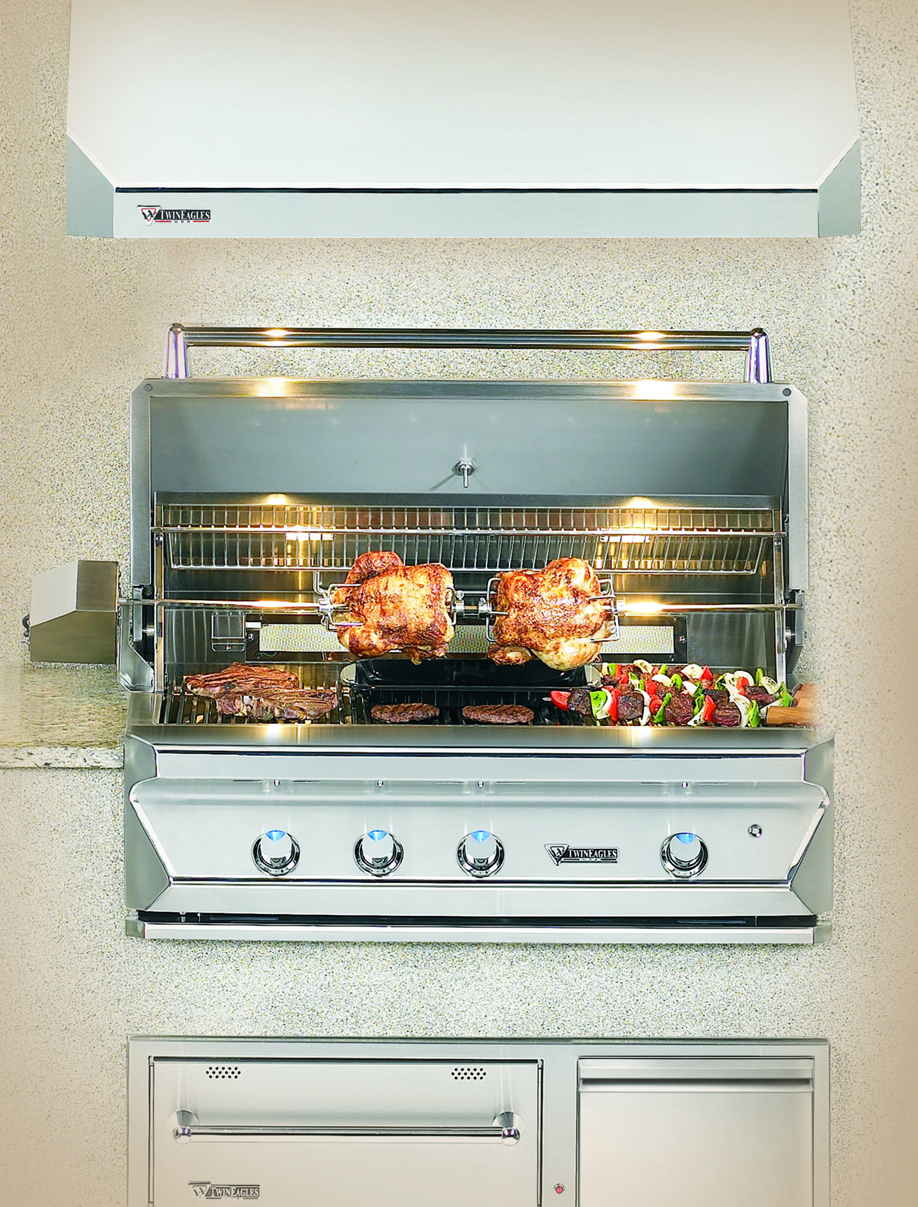 DIY Outdoor Grill Vent Hood  Outdoor Kitchens Bars and Grills Showcase ALLGREEN INC