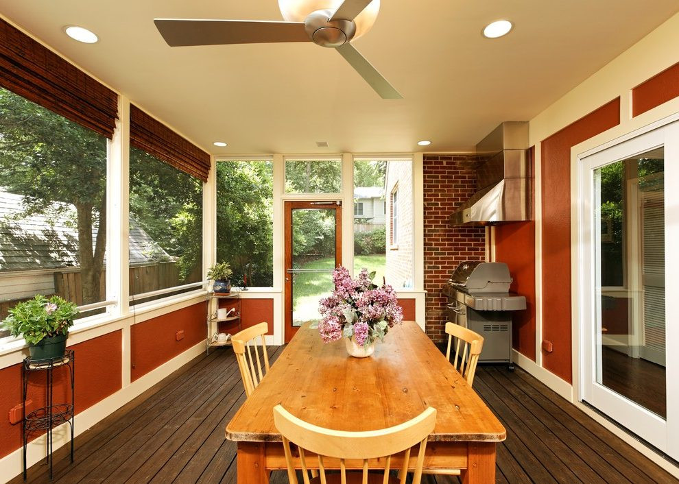 DIY Outdoor Grill Vent Hood  grill vent hood ideas porch traditional with screened in