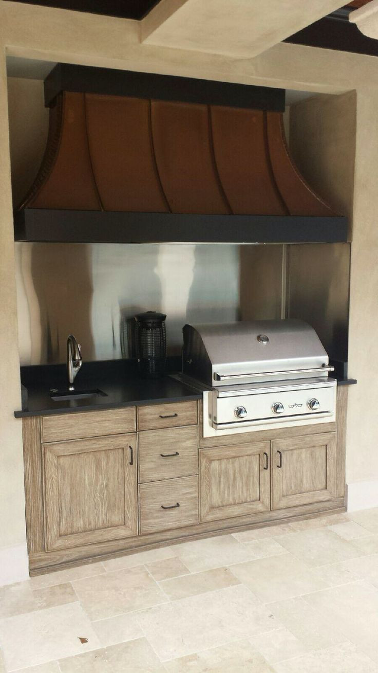 DIY Outdoor Grill Vent Hood  Small and beautiful NatureKast outdoor kitchen with Delta