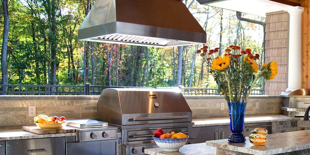 DIY Outdoor Grill Vent Hood  Outdoor Vent Hood Outdoor cooking in 2019