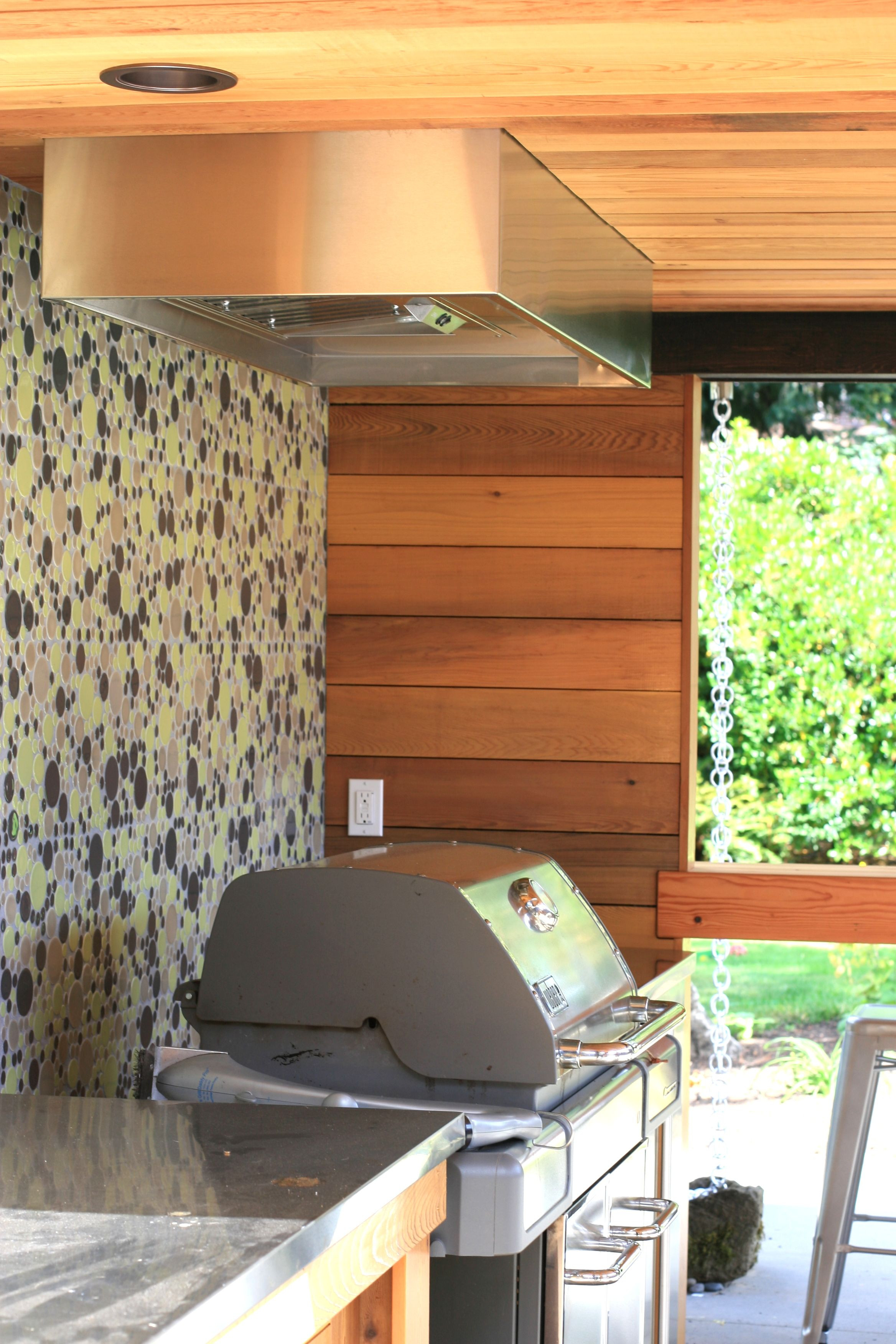 DIY Outdoor Grill Vent Hood  weber genesis grill in a wall unit Google Search