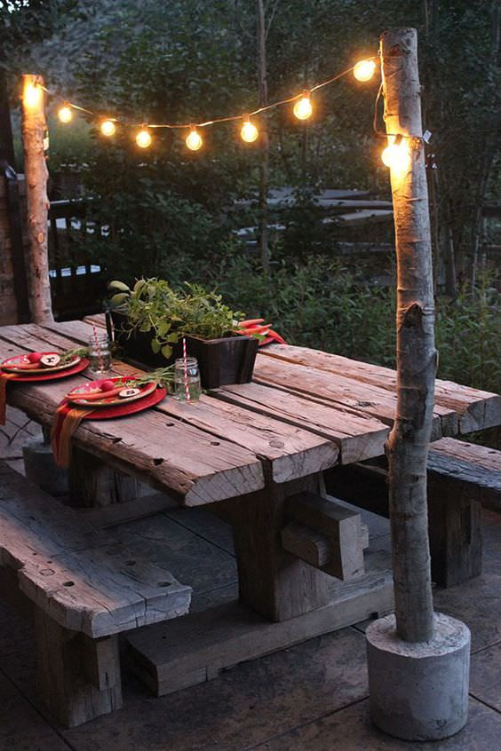 DIY Outdoor String Lights  10 Outdoor Lighting Ideas for Your Garden Landscape 5 Is