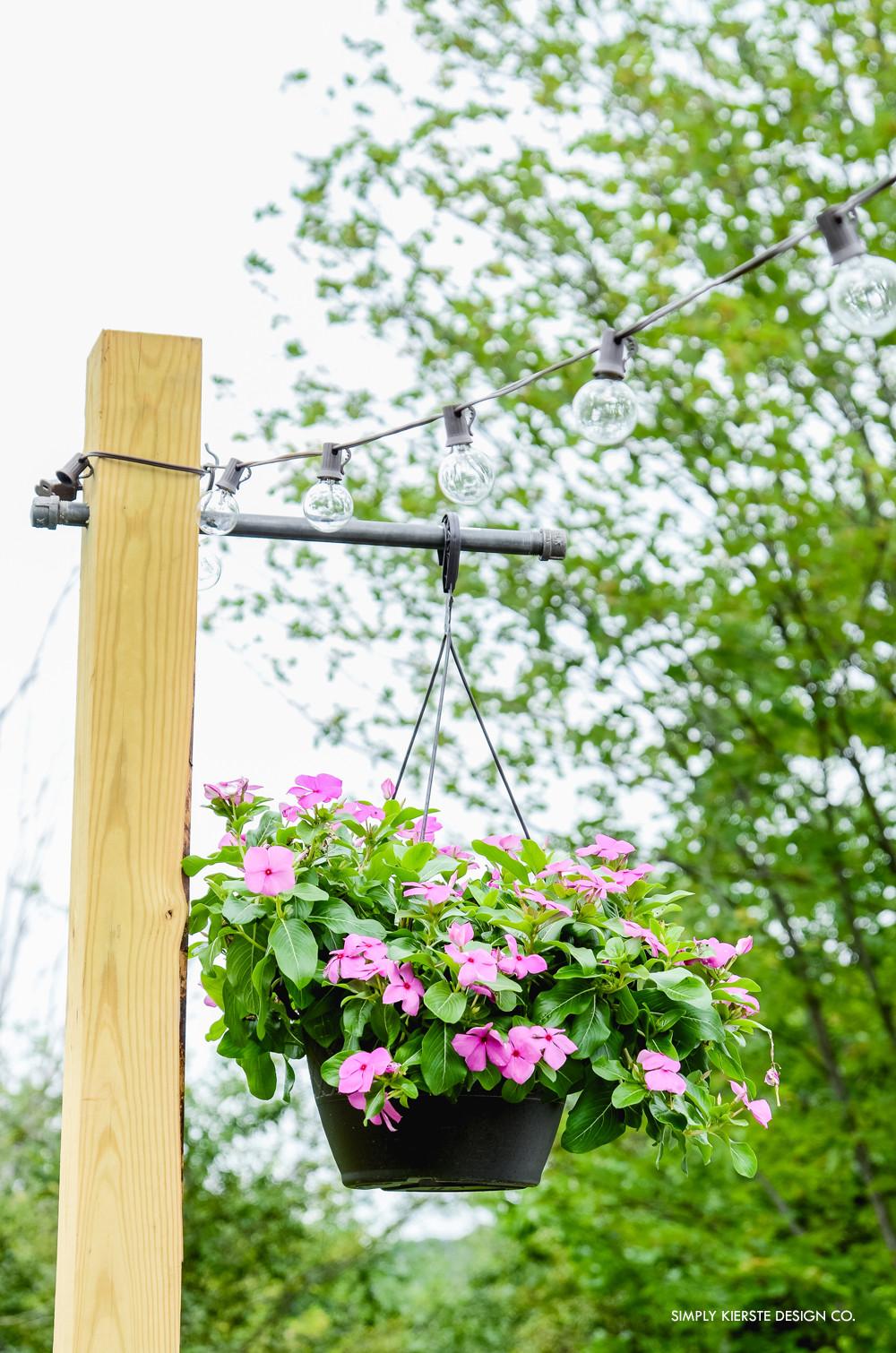 DIY Outdoor String Lights  Outdoor String Lights on DIY Posts Simply Kierste Design Co