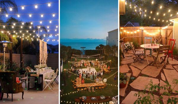 DIY Outdoor String Lights  26 Breathtaking Yard and Patio String lighting Ideas Will