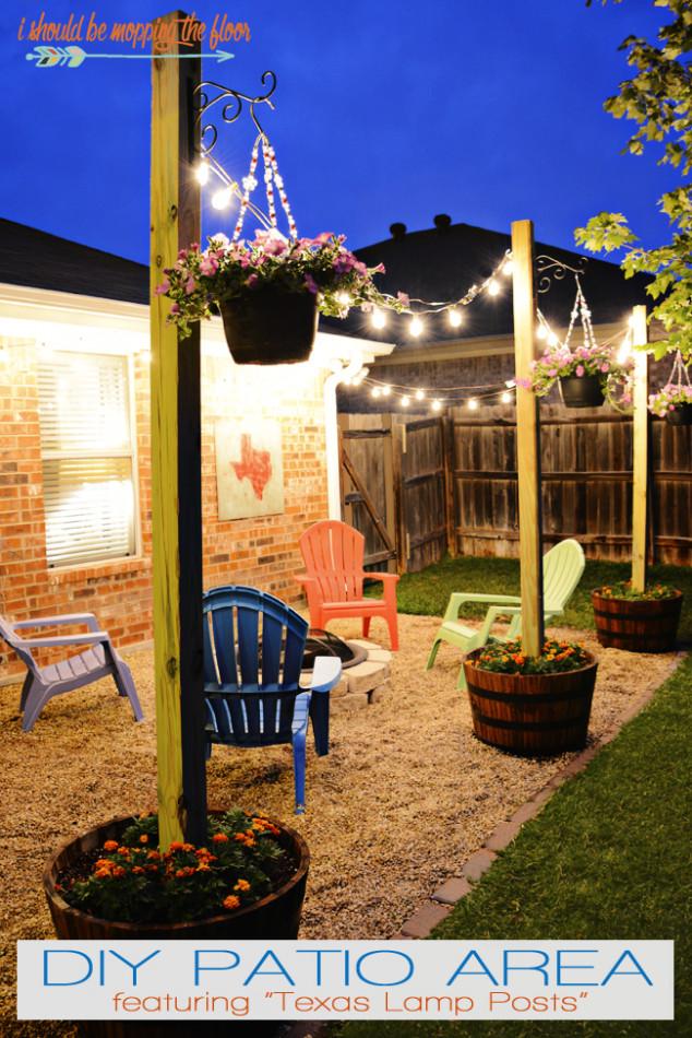 DIY Outdoor String Lights  10 Urban DIY Backyard and Patio Lighting Ideas