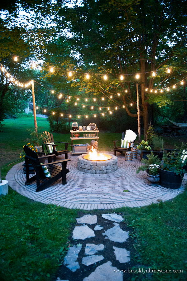 DIY Outdoor String Lights  20 Amazing Outdoor Lighting Ideas for Your Backyard Hative