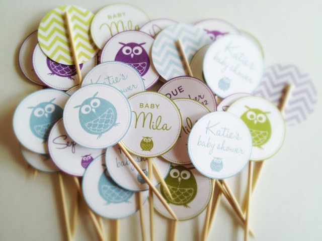 DIY Owl Baby Shower Decorations  Items similar to Owl Baby Shower Decorations Printables