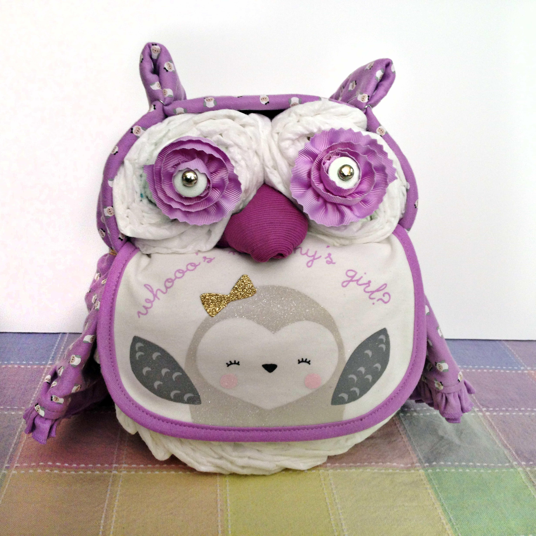 DIY Owl Baby Shower Decorations  Owl Diaper Cake BugabooCity