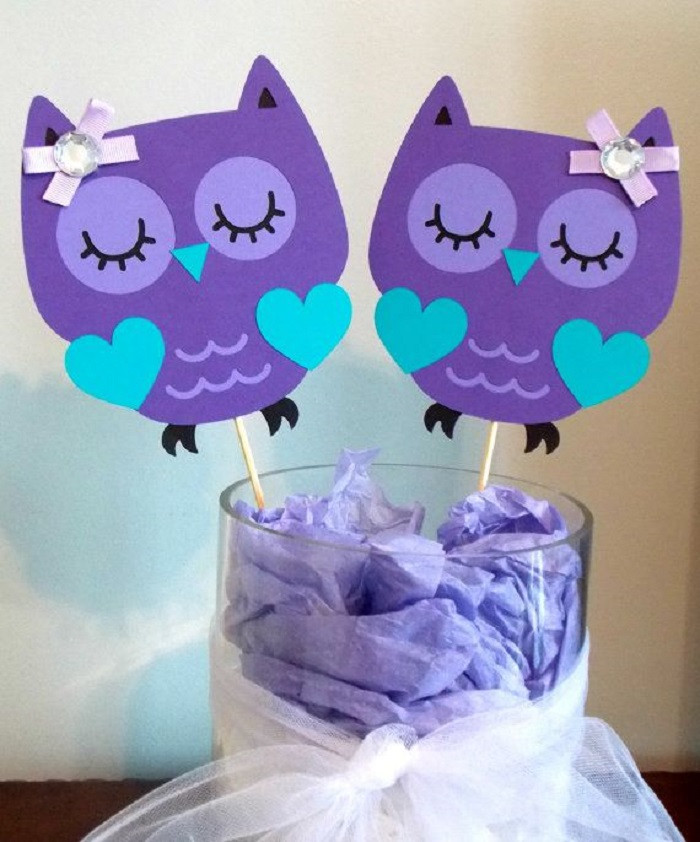 DIY Owl Baby Shower Decorations  diy owl decorations Do It Your Self