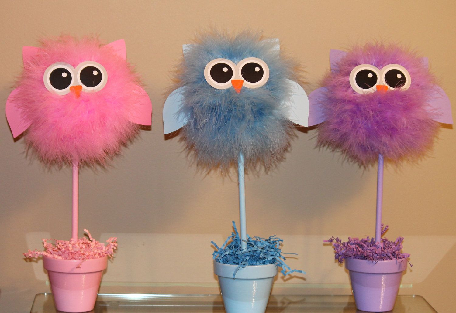 DIY Owl Baby Shower Decorations  Owl centerpiece and party decoration choice of one