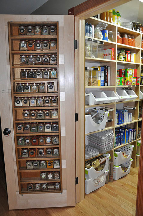 DIY Pantry Door Spice Rack  Spice Rack Storage Solutions Sand and Sisal