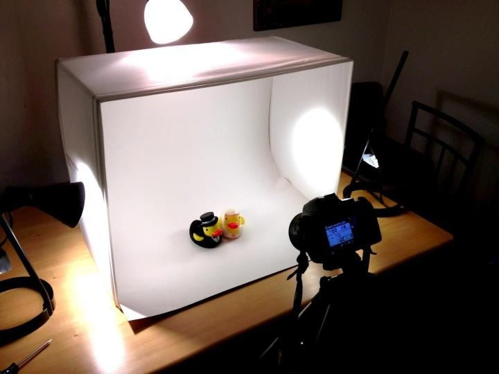 DIY Photo Studio Box  DIY $25 Light Box Made From Ikea Parts via Reddit Would