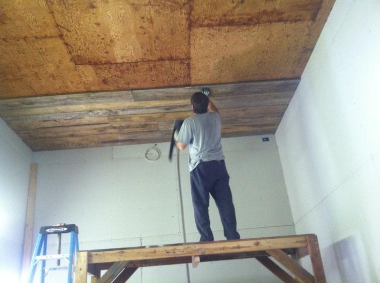 DIY Plank Ceiling  Craftaholics Anonymous