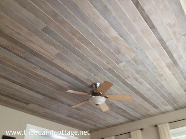 DIY Plank Ceiling  Outdoor Table Plans Australia Wood Plank Ceiling Diy