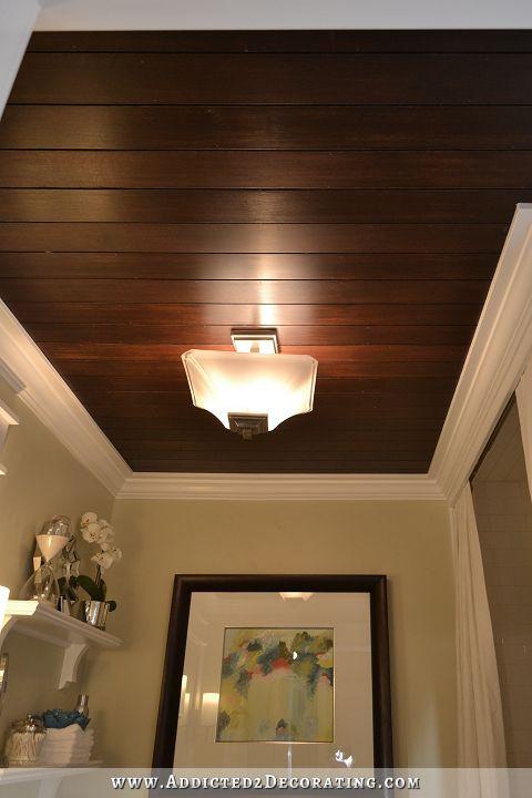 DIY Plank Ceiling  Ceiling Decorating Ideas DIY Ideas To Add Interest To